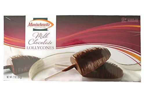 Manischewitz Milk Chocolate Lollycones Lollipops Kosher for Passover, 2 Oz.
