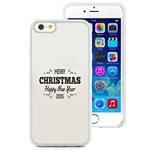 NEW Unique Custom Designed iPhone 6 4.7 Inch TPU Phone Case With Simple Christmas Greeting Vintage Text_White Phone Case