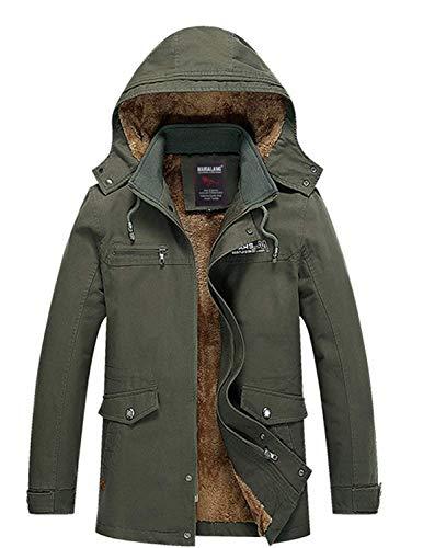 Spessa Con Cotone Uomo Cappotto inverno In O Da Classiche Libero Ragazzi Grün Il Cappuccio Invernale Giacca Tempo Autunno Per 4fxnnF