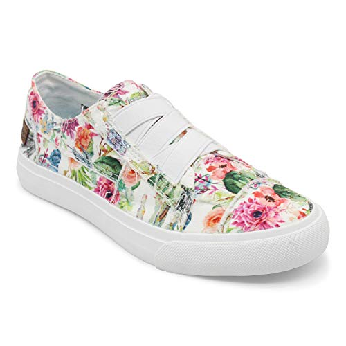 afd200e244be3 ... Blowfish Women's Marley Canvas Ankle-High Fashion Sneaker (Off-White  Cactus Flower Print