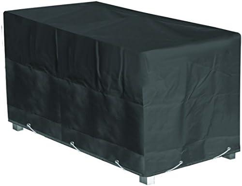 GREEN CLUB Housse de Protection Table de Jardin Rectangulaire Haute qualité  Polyester L 200 xl 130 xh 60 cm Couleur Anthracite