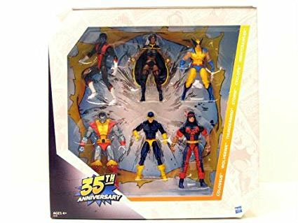 The Collector Marvel Costume (35th Anniversary 6 Pack Giant Size Marvel Universe Exclusive Action Figure Set X-Men Wolverine Nightcrawler Storm Cyclops Colossus Thunderbird Exclusive)