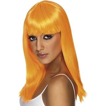 Glamourama peluca larga y diseño de luces de colores diseño de la naranja mecánica