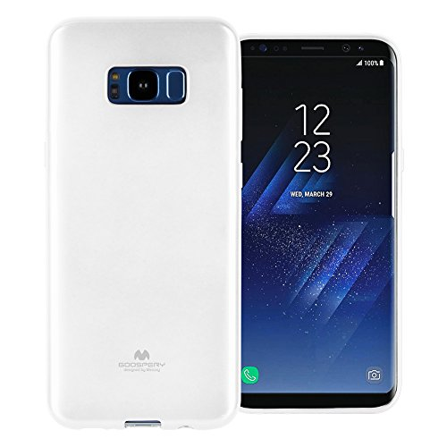 Goospery Pearl Jelly for Samsung Galaxy S8 Plus Case with Screen Protector Slim Thin Rubber Case (White) S8P-JEL/SP-WHT
