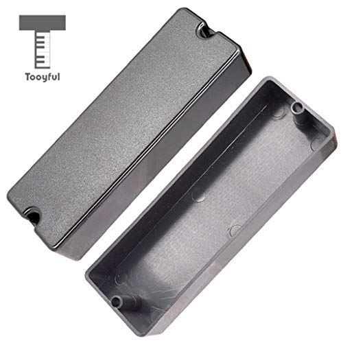 DDV-US - Sealed Closed Type Humbucker Pickup Covers for 6 String Electric Bass 2 Hole (Humbucker Rhythm)
