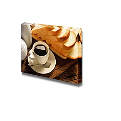Top Quality Design, Magnificent Piece of Art, Coffee Cup and Sliced Bread Wall Decor