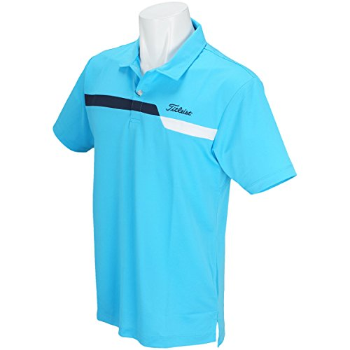 タイトリスト TITLEIST 半袖シャツ?ポロシャツ ストレッチ ライン切替ドライ鹿の子半袖ポロシャツ ブルー L