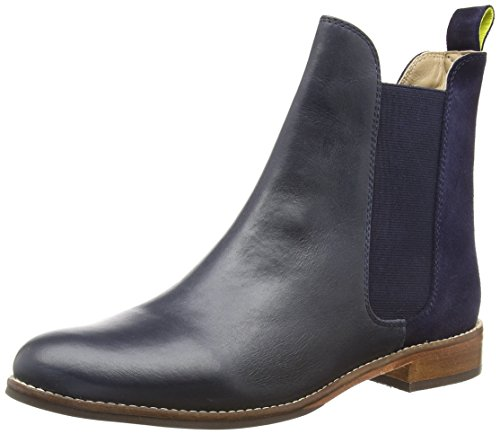 Joules Women's Westbourne Chelsea Fashion Boots, Navy, Leather, Rubber, 9 M