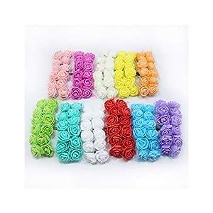 12pcs Mini Foam Rose Artificial Flowers for Home Wedding Car Decoration DIY Wreath Decorative Bridal Fake Flower 109
