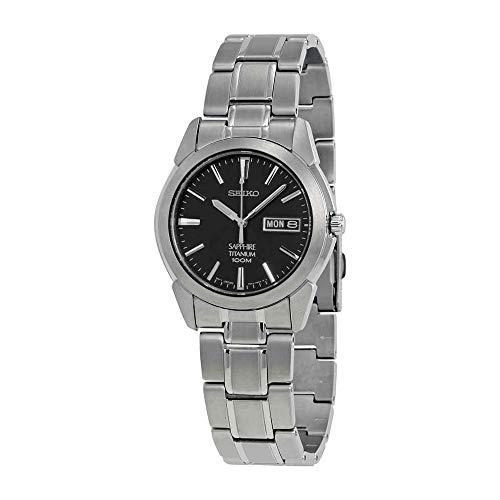 Seiko Men's SGG731 Titanium Silver Dial Watch (Titanium Watch Wrist Quartz)