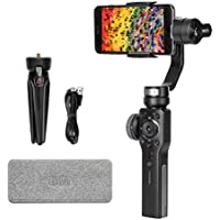 Zhiyun Smooth 4 3-Axis Handheld Gimbal Stabilizer, Integrated Control Panel Design iPhone Android Smartphones GoPro, Object Tracking Vertigo Shot(Hitchcock Zoom) More