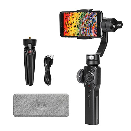 Zhiyun Smooth 4 3-Axis Handheld Gimbal Stabilizer, Integrated Control Panel Design iPhone Android Smartphones GoPro, Object Tracking Vertigo Shot(Hitchcock Zoom) More -