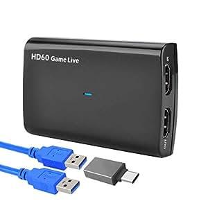 Amazon.com: Y&H - Tarjeta de captura HDMI con micrófono, HD ...