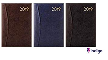Free Pen 2019 SLIM LONG Size Diary WEEK TO VIEW WTV Leather effect cover