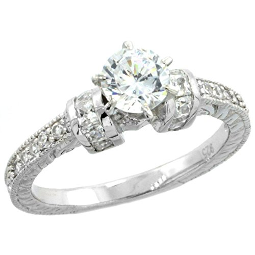 Sterling Silver Vintage Zirconia Engagement