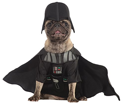 Darth Vader Costume For Dogs (UHC Darth Vader Star Wars Outfit Puppy Halloween Pet Dog Costume, XL)