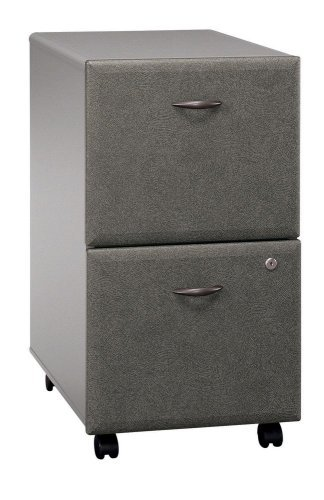 Bush Furniture Series A 2 Drawer Vertical Mobile Wood File Cabinet In White  Spectrum And Pewter