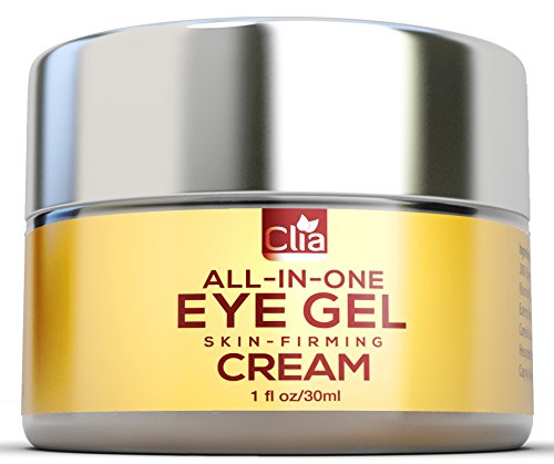 Clia Eye Gel for Wrinkles, Puffiness, Bags and Dark Circles, Natural Under Eyes Anti-Aging Gel with Hyaluronic Acid, Green Tea for Men and Women, 1 - Glasses Circle Face For