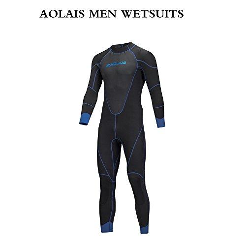 Aolais 3mm full wetsuits for men and women (men 4, - Wetsuit Xl Mens