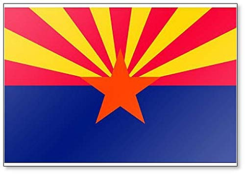Flag of Arizona State, United States of America Classic Fridge Magnet