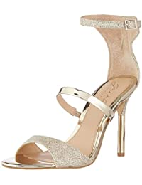 Women's RIHANNA Sandal, Gold Fabric, 9 M US