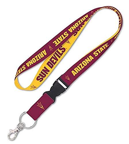 (Solid Rock NCAA Arizona State University ASU Sun Devils 3/4 Inch Lanyard with Detachable Buckle)