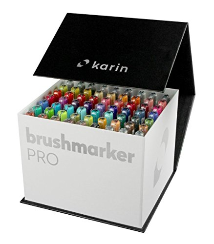 Mega Box Karin Brush Marker Pro Brushpens Water Based Ideal for Painting, Drawing and Hand Lettering Mehrfarbig by KARIN (Image #2)