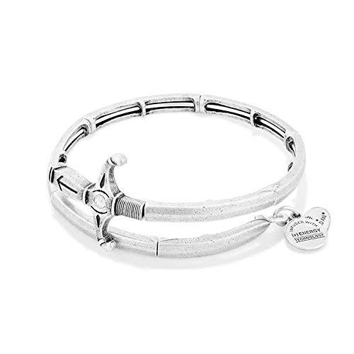 (Alex And Ani Sword Charm Silver One Size Bracelet V16W31RS)