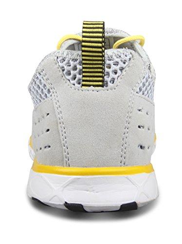Santiro Masculino Slip-on Sneaker Malla Exterior Zapato de agua Gris