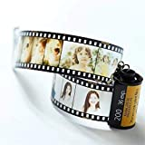 zhenao Personalized Keychains with Picture Colorful Custom Camera Film Roll Keychain
