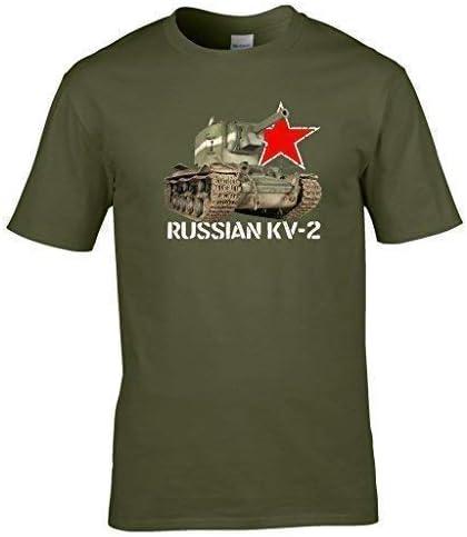 2/ème Guerre Mondiale Russe KV2 R/éservoir T-Shirt Naughtees V/êtements Id/éal pour Anyone Who Pi/èces World of Tanks ou A Un Int/ér/êt en Militaire V/éhicules.