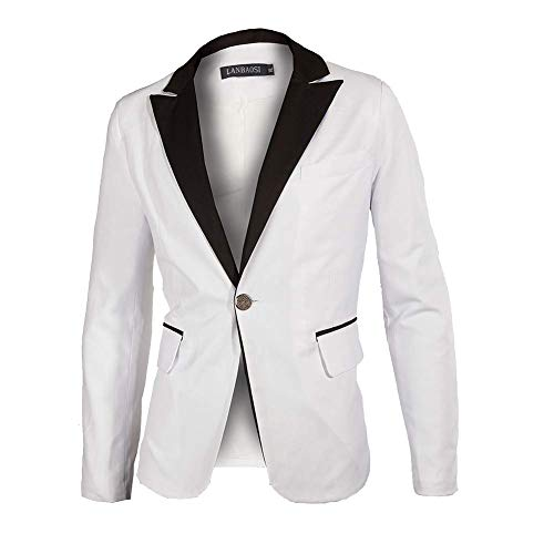 Men's White Groom Shawl Lapel Collar Tuxedo Jacket Tailored Dinner Blazer