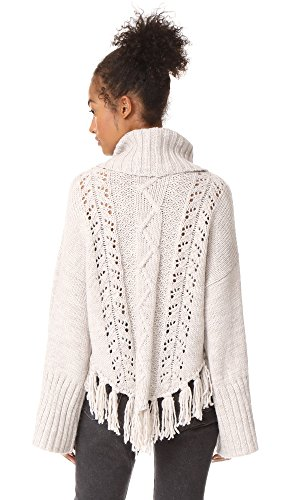 cupcakes and cashmere Women's Prilla Cable Knit Sweater, Latte, X-Small by cupcakes and cashmere (Image #2)
