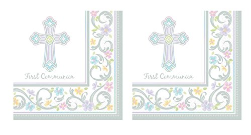Blessed Day Communion Beverage Napkin 36ct (2 pack) -
