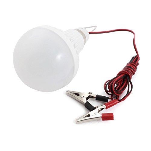 ワニ口クリップワットDealMux DC 12V 9W省エネ緊急ソフト白色LED電球 B06XVNVTG8