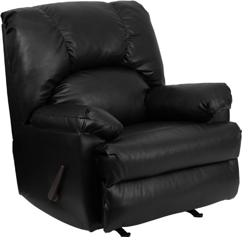 Black Contemporary Rocker Recliner (Flash Furniture Contemporary Apache Black Leather Rocker Recliner)
