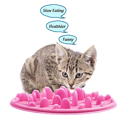 Slow Feeder Bowl for Pet Dog ,2019 New Type Interactive Bloat Stop Dog Bowl Foldable Silicone Anti-Choke Dog Food Bowls…