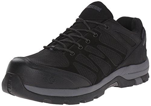 Wolverine Men's Fletcher Low Work Shoe, Black, 8 M US
