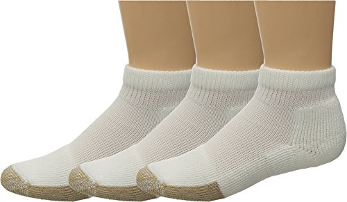 Thorlos Unisex Tennis Mini-Crew Thick Cushion 3-Pair Pack White Large