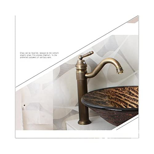 high-quality BL- European retro glass wash basin/taps (45013519mm) , basin + faucet and accessories