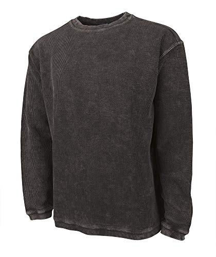Charles River Apparel Camden Crew Neck Sweatshirt (Small, Vintage Black)