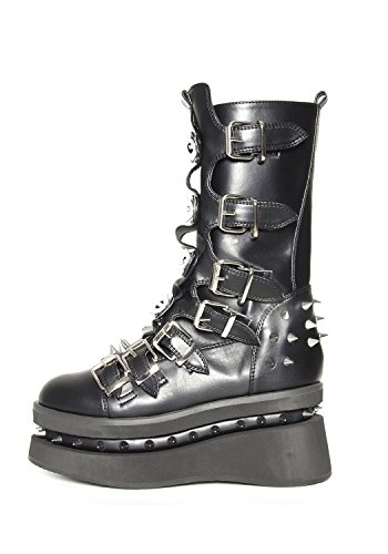 Buckle H Shoes with 6 Platform Stetchen Hades Boot Straps Seven Black Fqw0Pd