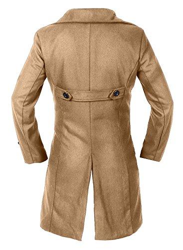 1 Long Sleeve Partiss Coat Trench Men's Khaki wRXwpqg