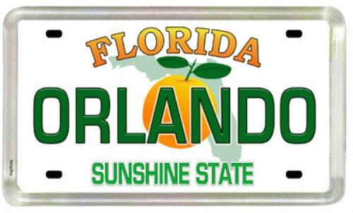 Orlando Florida License Plate Acrylic Small Fridge Collector's Souvenir Magnet 2