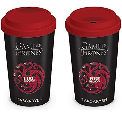 Pyramid International Game of Thrones - Taza De Viaje House Targaryen: Amazon.es: Hogar