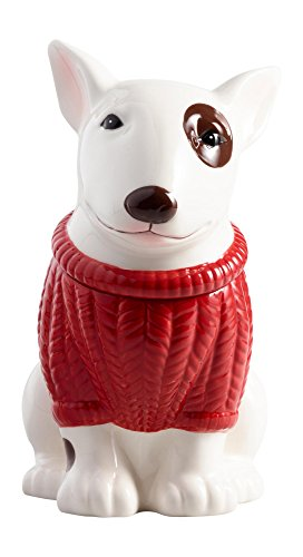 Bull Terrier Ceramic Cookie Jar<br>10W x 6.3D x 11.4H Inches