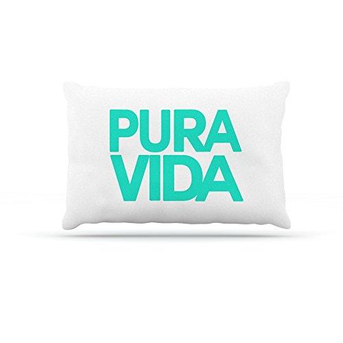 Kess InHouse Geordanna Cordero-Fields Turquoise Pura Vida  Fleece Dog Bed, 50 by 60 , bluee White