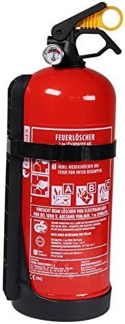 2 kg Feuerlöscher-Pulver GP-2X ABC Manometer + Halterung (made in Europe auch Auto Boot)