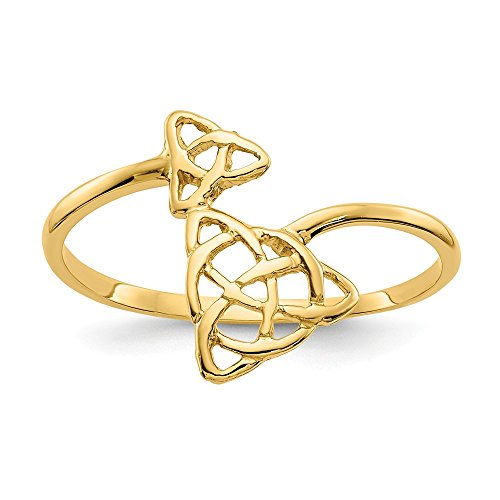 - Mia Diamonds 14k Solid Yellow Gold Polished Celtic Knot Ring