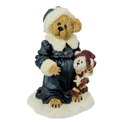 Boyds Bears Resin Genevieve Berriman W/ Brady Christmas Bearstone - Resin 4.00 IN
